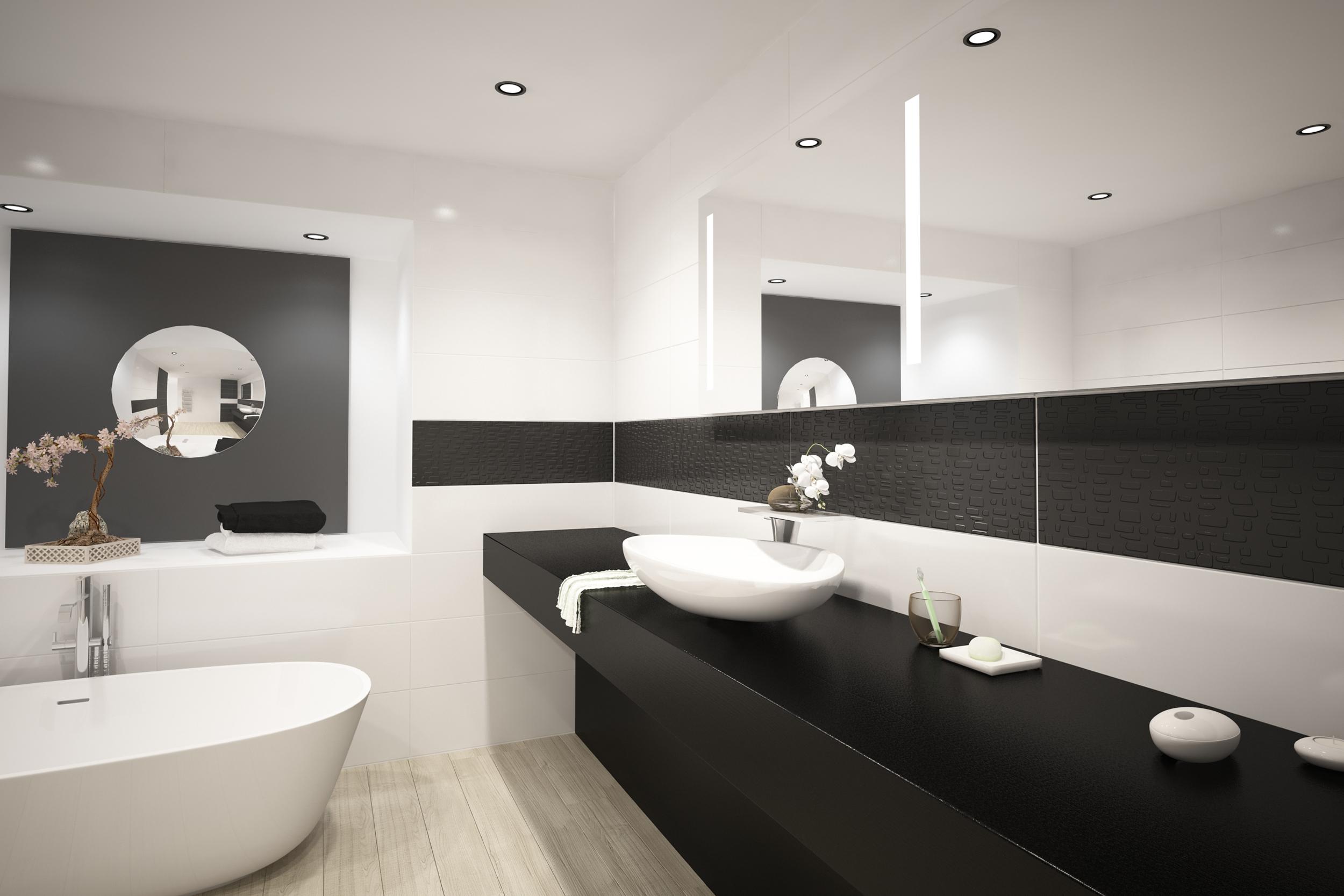 Modern design luxury bathroom interior