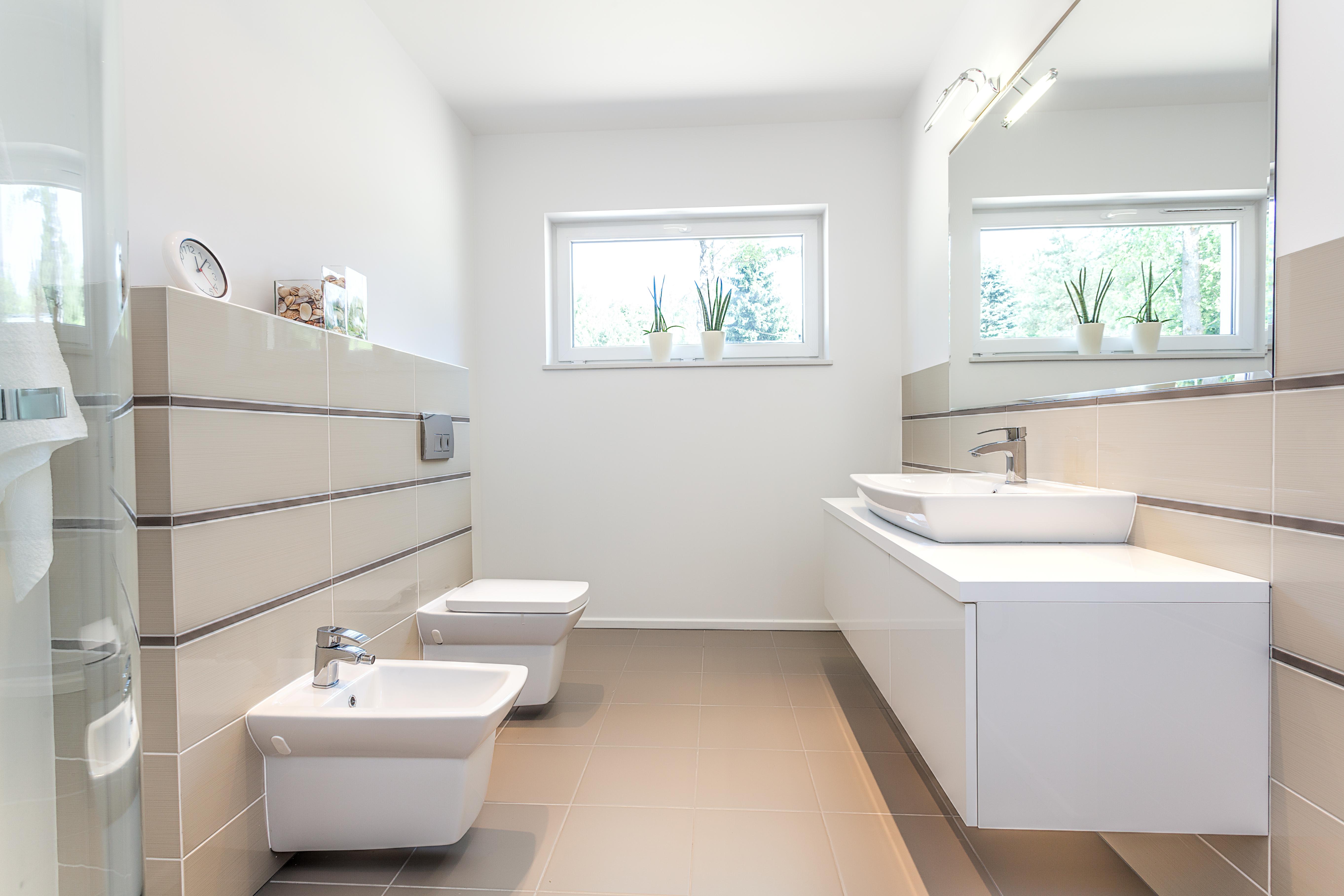 Bright Space - White Bathroom