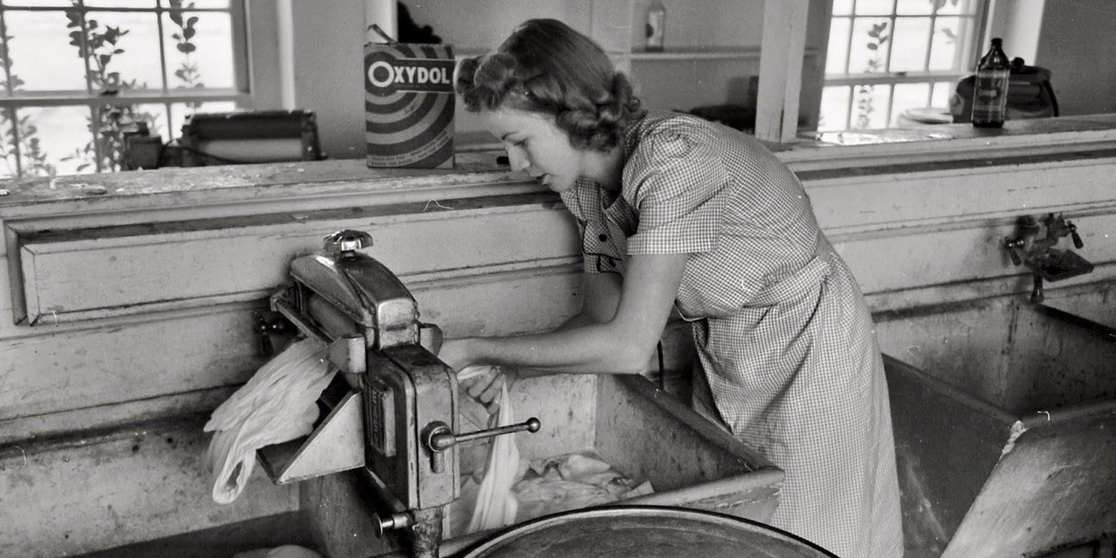 Women using wash house