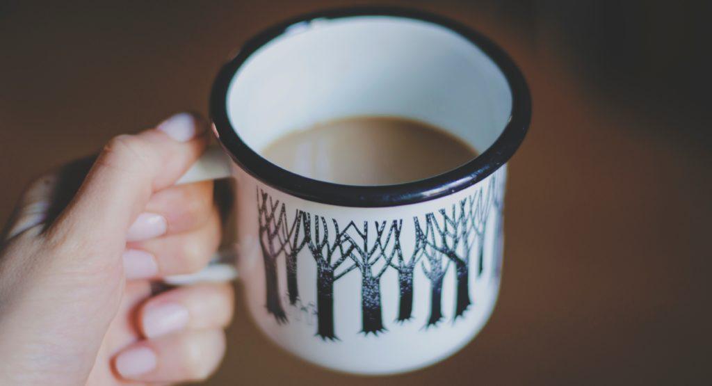 Coffee in tree mug