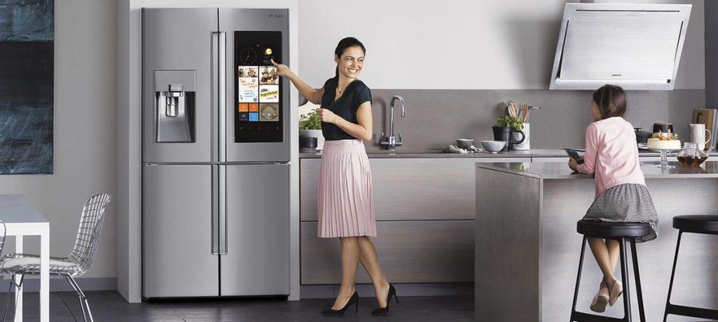 Smart Kitchen tech with Samsung fridge