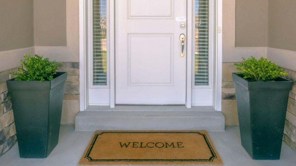 Spring Cleaning door mat tip